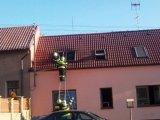 Požár domu v Pecínově